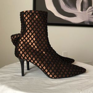 Copper and black Zara ankle booties